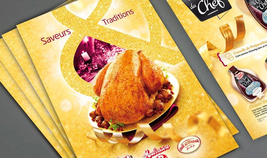 Plaquettes produits Saveurs d'été & Festive Père Dodu dans Design graphique book_plaquette_festive